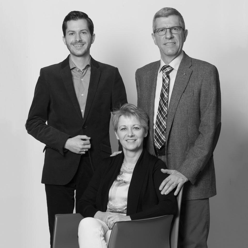 Carlo, Claudia e Mauro Bazzi