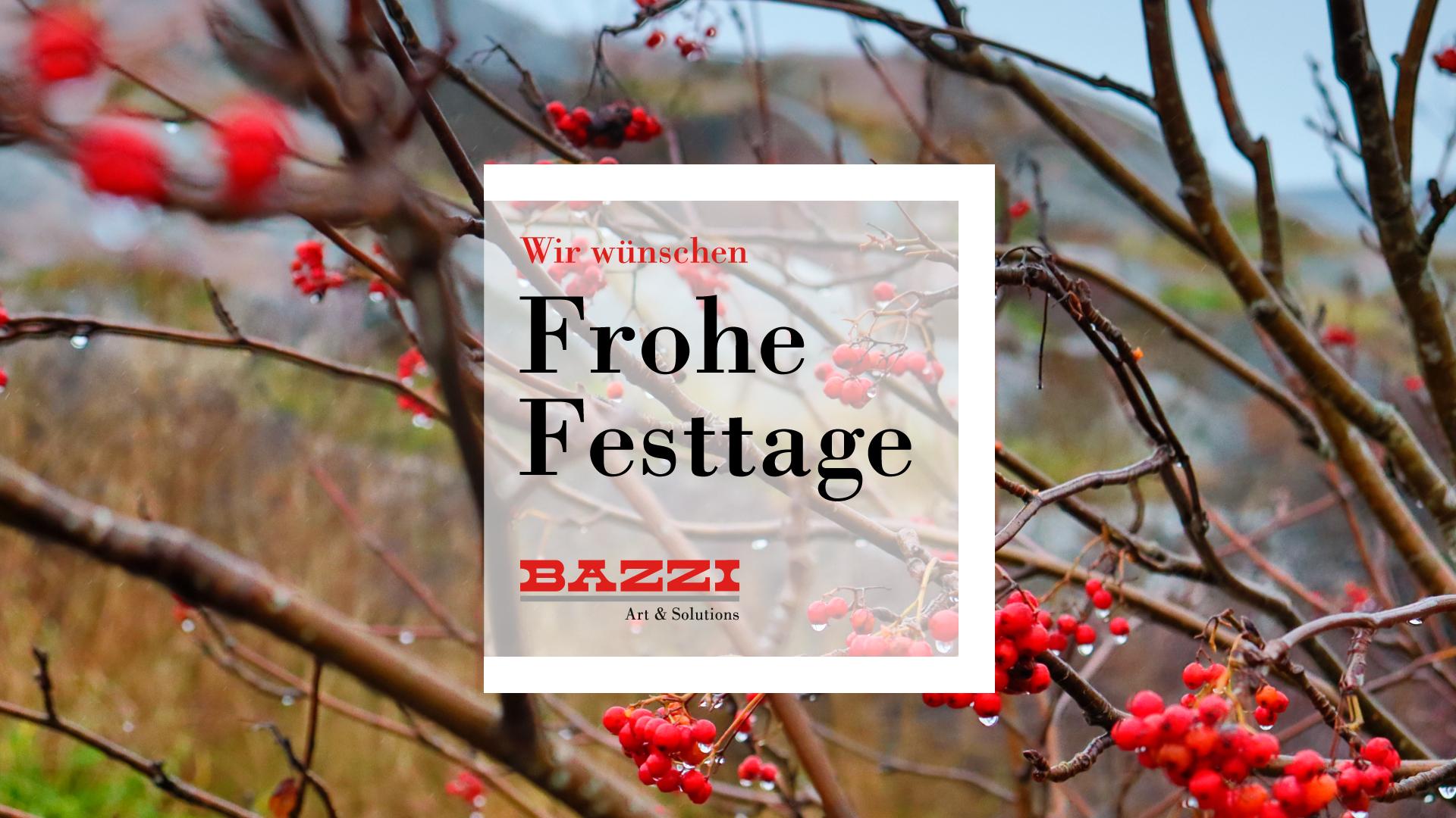 Wir wünschen FROHE FESTTAGE